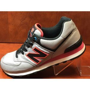 New Balance 574 Gray Black Red Casual Running Shoe